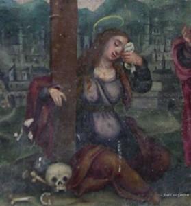 Ampliación del retablo de María Magdalena embarazada en el Monasterio de Santes Creus, en Tarragona. (Fotografía cortesía de José Luis Giménez)