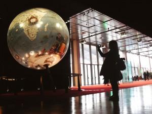 En la sala de las dos bolas del mundo, Biblioteca Nacional de Francia