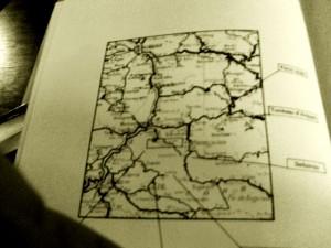 Mapa con la situación exacta a la cueva en la que se alberga el secreto de los templarios en Francia