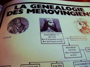 La genealogía de los Reyes Merovingios de la Biblioteca de París