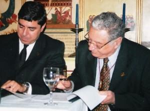 Josep de Juan y Buixeda, a la izquierda