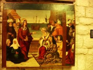 ¿Por qué esta escena con los reyes de Francia postrándose ante María Magdalena?