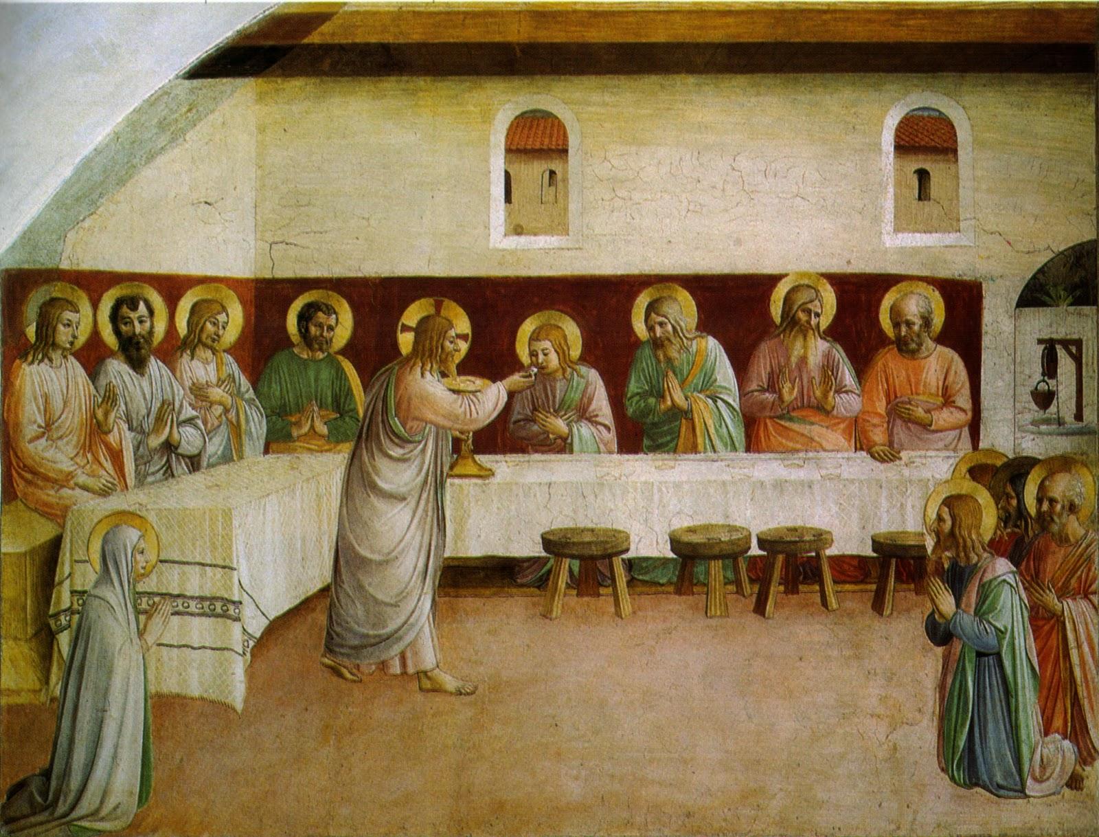 Resultado de imagen de fra angelico comunion de los Apostoles