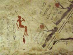 Cabezas redondas en las tumbas de Ramsés I en el Valle de los Reyes